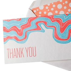 LOVE! // Letterpressed Thank You Cards made by Smock Paper Stationary .