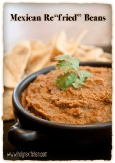 """Helyn's Healthy Kitchen: Mexican Re""""fried"""" Beans"""