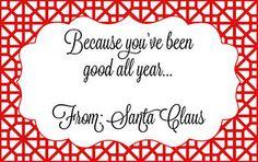 Free printable gift tag from Santa