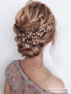 Wedding Hair Up, Wedding Hairstyles For Long Hair, Wedding Hair Pieces, Loose Hairstyles, Hairstyle Wedding, School Hairstyles, Bridal Hairstyles, Wedding Bride, Wedding Ideas