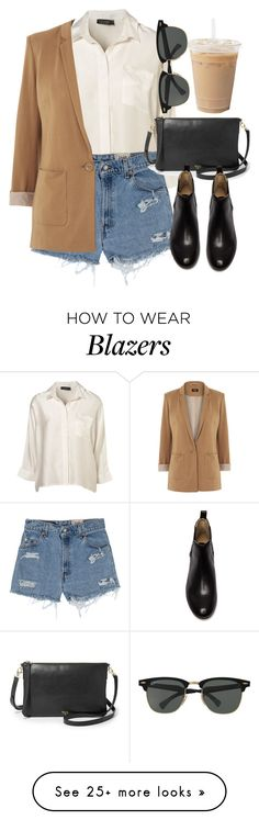 """""""Untitled #4623"""" by laurenmboot on Polyvore featuring Levi's, Oasis, FOSSIL, Frye and Ray-Ban"""