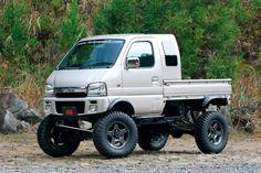 Mini Trucks, Cool Trucks, Pickup Trucks, Mitsubishi Minicab, Black Rhino Wheels, Mini 4x4, Suzuki Carry, Go Kart Plans, Honda Scrambler
