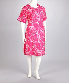 Pink Calypso Linsay Delivery Gown - Women & Plus by Cure-Couture #zulily #zulilyfinds