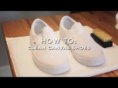 How To Clean Canvas Shoes White shoes can be hard to keep clean, so, we have prepared this guide to give you the top methods and top tips to maintain your white. Cleaning White Canvas Shoes, Clean Canvas Shoes, Cleaning White Vans, Cleaning Converse, How To Clean White Shoes, How To Clean Vans, Clean Shoes, Me Clean, Clean Freak