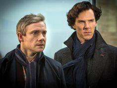 Martin Freeman und Benedict cumberbatch