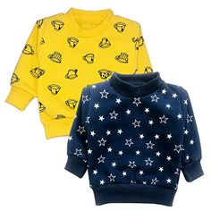 CLAP Unisex 2 Pack Fleece Winter Sweat Shirt Printed for Your Baby (Blue Yellow, 3-6 Months): Amazon.in: Clothing & Accessories Winter Clothes, Sweat Shirt, Clothing Accessories, Blue Yellow, Baby Blue, Printed Shirts, 6 Months, Unisex, Amazon