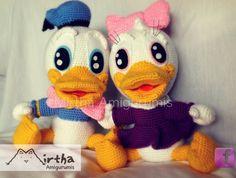 Baby Donald and Baby Daisy amigurumis by MirthaAmigurumis.deviantart.com on @deviantART