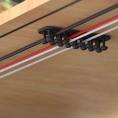 Home Office Setup, Home Office Design, House Design, Computer Desk Setup, Gaming Room Setup, Cable Management System, Wire Management, Gaming Desk Cable Management, Kids Homework Station