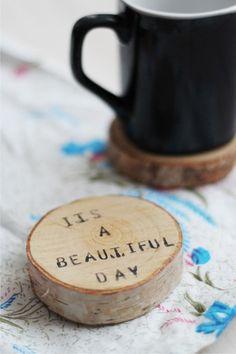 Deko-Objekte - Wooden pad cup (2 pieces) - ein Designerstück von fandoo bei DaWanda
