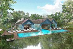 Soho Farmhouse - Oxfordshire, England ... pool/pool house concept