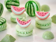 COCONUT WATERMELON MACARONS