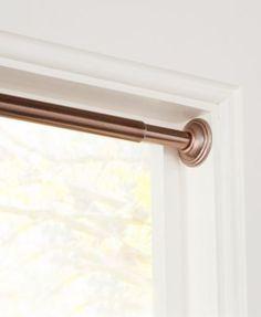 Sun Zero 3 4 Light Blocking Tension Curtain Rod 48 86 Oil Rubbed Bronze Bedding