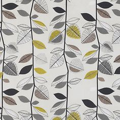 Buy John Lewis Autumn Leaves Fabric, Sulphur online at JohnLewis.com - John Lewis £16