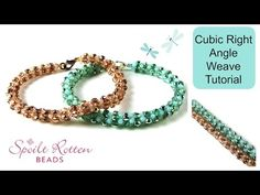 Cubic Right Angle Weave Tutorial - YouTube