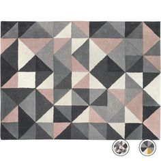 Henrik Hand Tufted Wool Rug 120 x 180cm, Pink and Grey from Made.com. Grey/Pink. NEW Express delivery. Henrik. A rug that's as much a piece of art a..