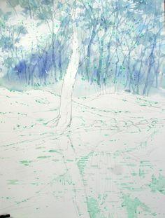 [ 풍경수채화] 숲 - 수채화과정 : 네이버 블로그
