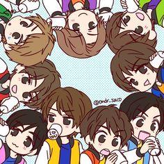 Twitter Jumping Gif, Anime Chibi, I Fall, Fan Art, Japanese, Manga, Sayings, Idol, Track