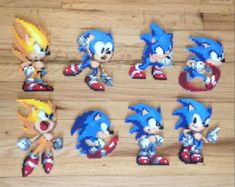 Enjoy these sprites that pay homage to the original Genesis version of Sonic the Hedgehog! Each one comes as a flat piece perfect to hang on any wall. Perler Beads, Perler Bead Art, Sprites, Sonic 25th Anniversary, Pixel Art, Sonic The Hedgehog, Sonic The Movie, Fusion Beads, Sonic And Shadow
