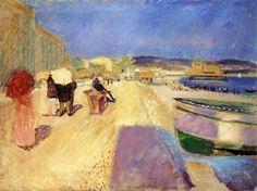 Edvard Munch - Promenade des Anglais, Nice.