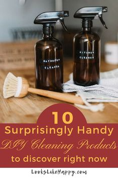 10 DIY Cleaning Products You Shouldn't Live Without- Looks Like Happy  #cleaning #DIY #homemade #cleaningproducts