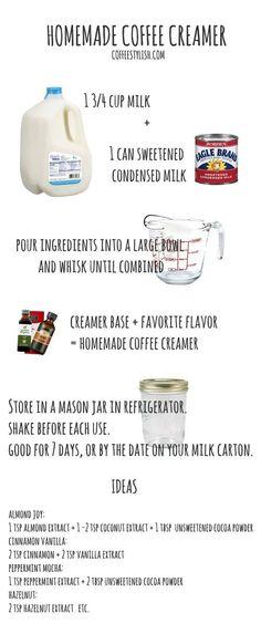 homemade coffee creamer recipe