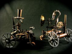 Steampunk Sculpture Terror Tractor with Death Ray