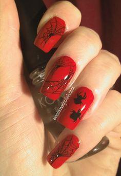 Spider nail art. Orto diseño que amaría mi hijo! =)
