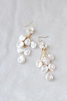 1 Paire élégant blanc cristal Strass Ear Drop Dangle Stud Long Boucles D/'oreilles 204