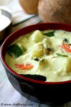 Aviyal - Vegetable Coconut Stew #recipe: http://chefinyou.com/2011/06/aviyal-vegetable-coconut-stew/ #vegetarian #indian