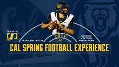 Cal Football Spring Football Graphic