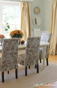 Simple Fall Dining Room & Table
