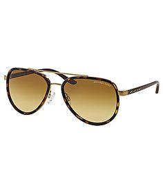 8b33bbc18daf Michael Kors Playa Norte Metal Aviator Sunglasses  Dillards Michael Kors  Sunglasses