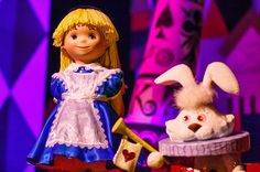 Alice and the White Rabbit on It's a Small World!