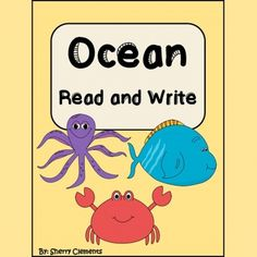 Ocean Read and Write -- This is a great reading and comprehension check for guided reading, a mini lesson, a literacy center, or homework. http://drclementskindergarten.blogspot.com/
