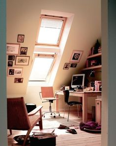 LOVE the idea of a loft office.  Private, quiet, and light!