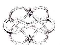 Two hearts intertwined forever ♥ I would get this on my ring finger if I got married with our date