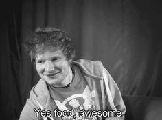 Ed Sheeran on food