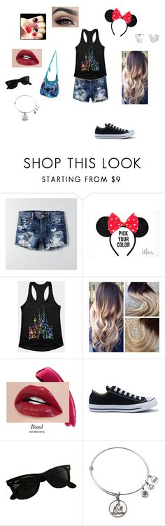 """""""Disney Adventure"""" by allana-iskra ❤ liked on Polyvore featuring American Eagle Outfitters, Disney, Converse and Ray-Ban"""