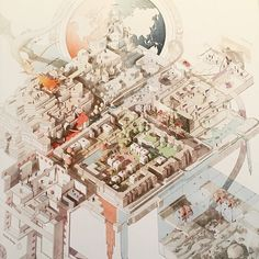 Architectural Drawing Ideas work is done by a student from Architectural Association School of Architecture photo by - Paper Architecture, Architecture Drawings, School Architecture, Architecture Photo, Axonometric Drawing, Isometric Drawing, Architectural Association, Architectural Section, Badass Drawings