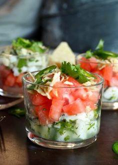 Kremet fiskesuppe på 1,2,3 - Mat På Bordet Fruit Salad, Chorizo, Ceviche, Healthy Life, Mozzarella, Watermelon, Appetizers, Food, Drinks