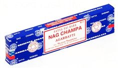 Nag Champa is the most loved incense in the world. Original Satya Sai Baba blue box Nag Champa incense. Nag Champa is a hand-rolled blend of flowers & spices, mostly sandalwood.