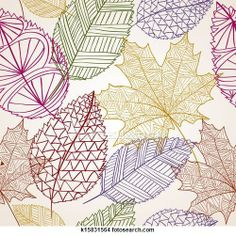 """Vintage autumn leaves seamless pattern background"" - Vintage Stock Photo from Go Graph Arte Elemental, Leaf Drawing, Fall Leaves Drawing, Illustration Blume, Doodle Designs, Patterns In Nature, Nature Pattern, Stock Art, Leaf Art"