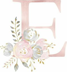 Discover recipes, home ideas, style inspiration and other ideas to try. Cute Wallpapers, Wallpaper Backgrounds, Iphone Wallpaper, Flower Backgrounds, Floral Letters, Monogram Letters, Watercolor Lettering, Watercolor Art, Flower Frame