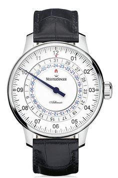 MeisterSinger Einzeigeruhren Array: Adhaesio AD901 single hand dual time. 43mm case. 13.1mm thick. Also comes with cream dial in same design.