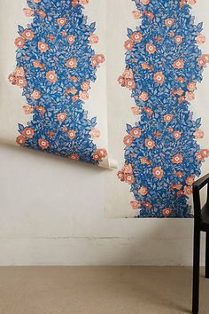 Front entry way in the wentworth? Morning Glory Wallpaper #anthropologie