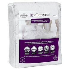Ultimate Protection And Comfort Allergy Protection Mattress Pad (Queen) White - AllerEase