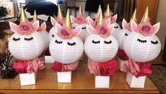 Unicorn Lanterns ( Centerpieces) Unicorn Birthday Party