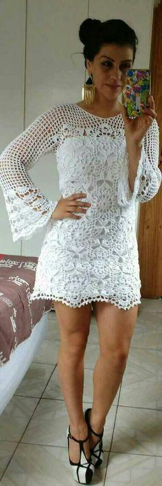 Vestido de crochêhirka kolu