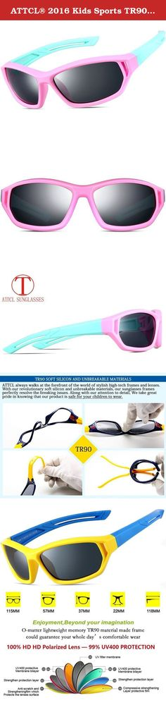 ATTCL® 2016 Kids Sports TR90 Polarized Sunglasses Wayfarer Style For Boys Girls 864 Pink Blue. UV protection polarized sunglasses keep your child's eyes protected from the sun year round with ATTCL sunglasses. TR90,ultra-light frame material with super toughness,crashworthiness wear,can effectively prevent the injuries of the child's eyes and face. Colorful wayfarer sunglasses design for kids and suitable for a variety of outdoor activities.