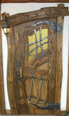32 The Best Rustic Doors Design Ideas Match With Farmhouse Style - Certain homes are able to include certain types of doors. Rustic doors are definitely the type that requires a specific house in order to match up pro. Cool Doors, The Doors, Entrance Doors, Windows And Doors, House Entrance, Doorway, Rustic Doors, Wooden Doors, Old Wood Doors